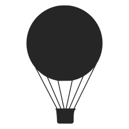 Flat air balloon silhouette