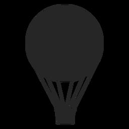 Silueta de globo de aire plano