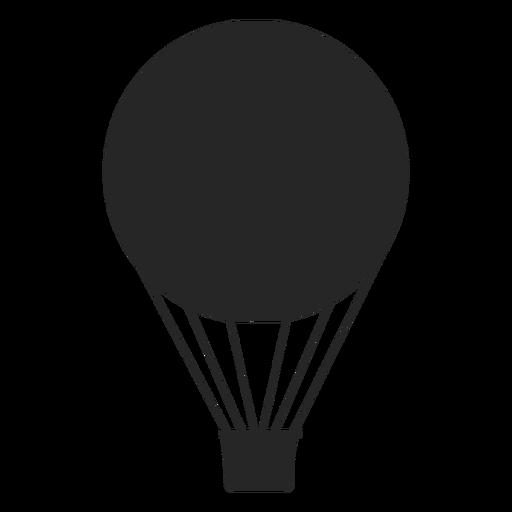 Flat air balloon silhouette Transparent PNG