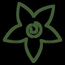 Icono floral plana