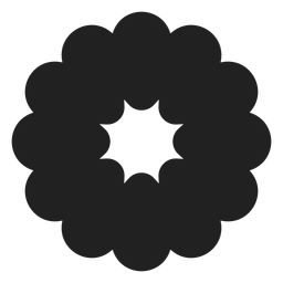 Flat flower blossom icon