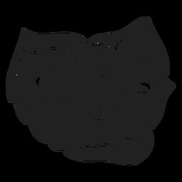 Flache Blume Symbol
