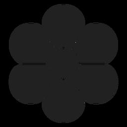 Flor de ícone de flor plana
