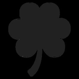 Silhoutte de flor plana