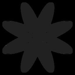 Ícone de vetor de flor plana