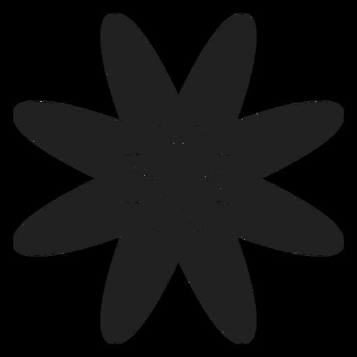 Icono de vector de flor plana Transparent PNG