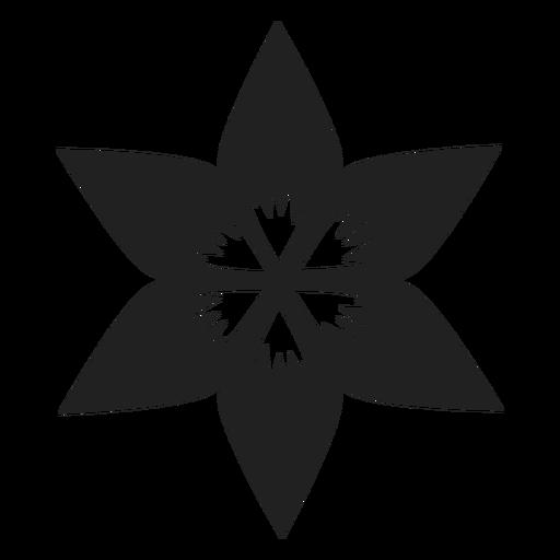 Flat flower vector flower Transparent PNG