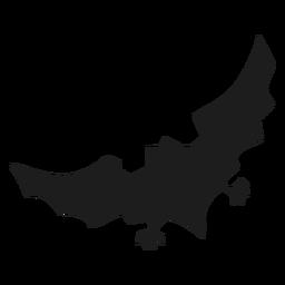 Icono de murciélago plano