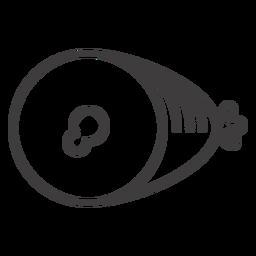 Icono de golpe de jamón plano