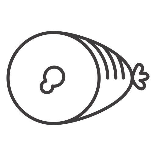 Flat ham stroke icon