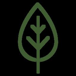Flat leaf icon