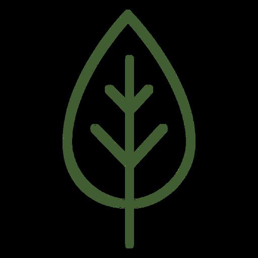 Flaches Blatt-Symbol Transparent PNG