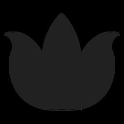 Vector de loto plana