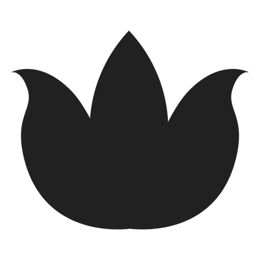 Flat lotus vector Transparent PNG