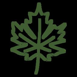 Ícone de folha de maple plana