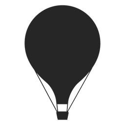 Flat simple hot air balloon silhouette
