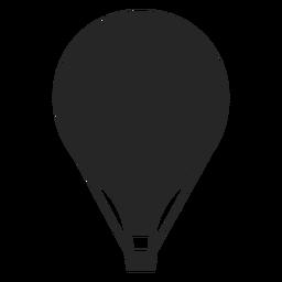 Silueta de globo aerostático plano simple