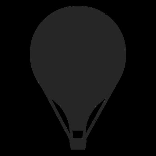 Silhueta simples plana de balão de ar quente Transparent PNG