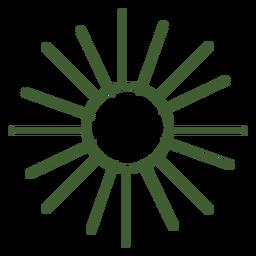 Icono de sol plano