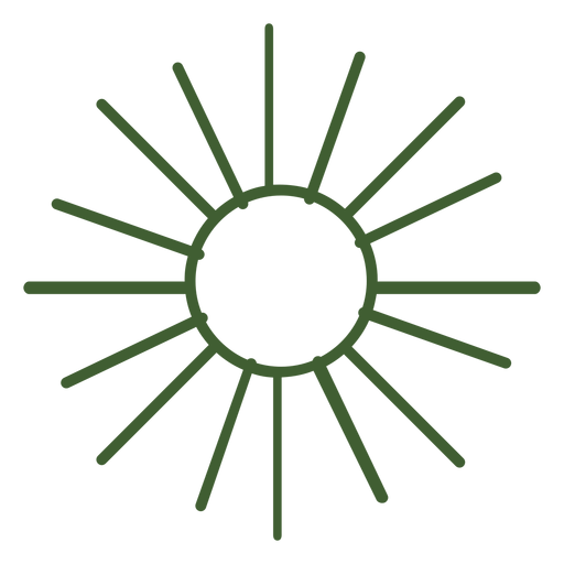 Flat sun icon Transparent PNG