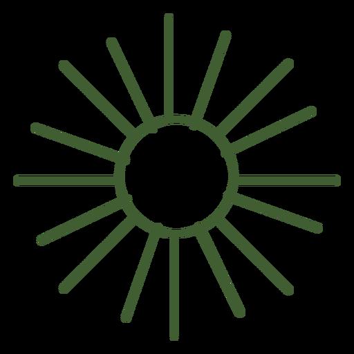 Icono de sol plano Transparent PNG