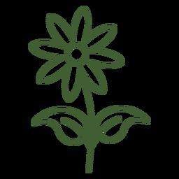 Flache Blumenikone Blume mit Blumen
