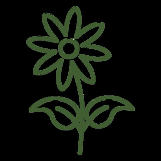 Flache Blumenikone Blume mit Blumen Transparent PNG