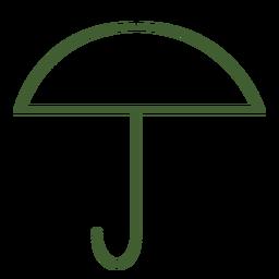 Flacher Regenschirm Symbol Regenschirm