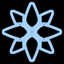 Icono de estilo de línea floral
