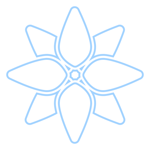 Floral line style icon Transparent PNG