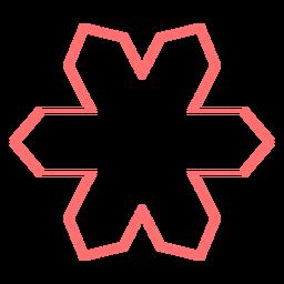Vector de estilo de línea floral