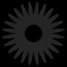 Icono de silhoutte floral
