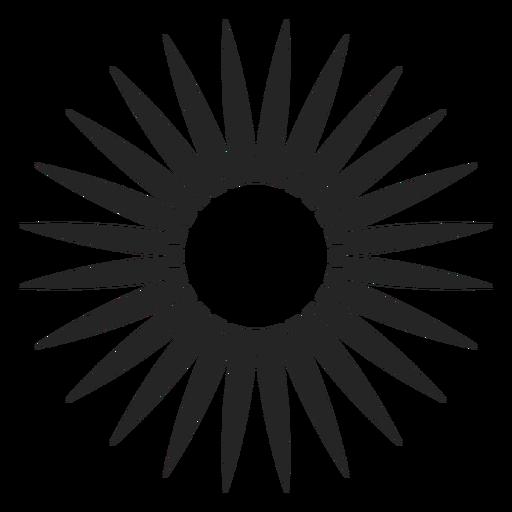 Floral silhoutte icon Transparent PNG