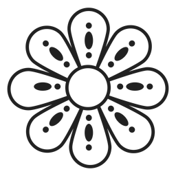 Flower dotted outline icon