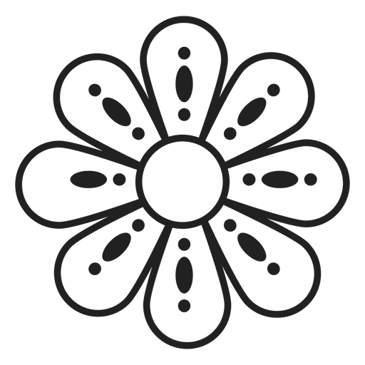 Flower dotted outline icon Transparent PNG