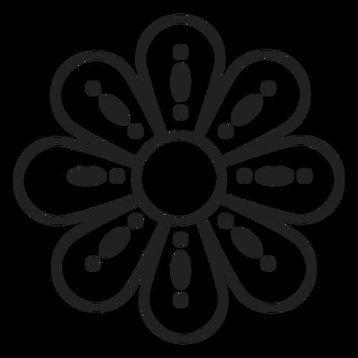 Flower dotted outline icon , Transparent PNG \u0026 SVG vector