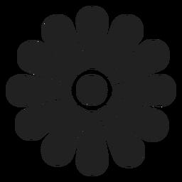 Icono de contorno de flor