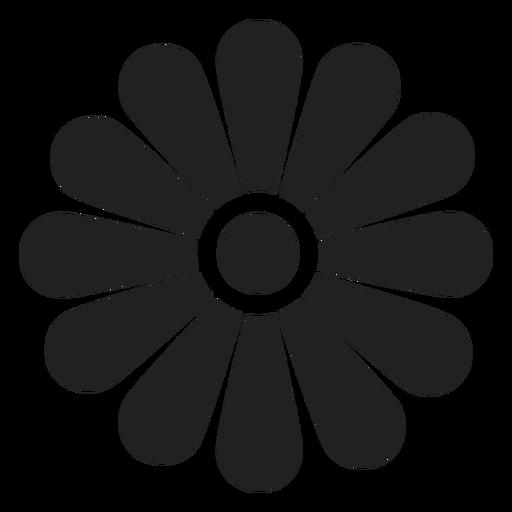 Icono de contorno de flor Transparent PNG