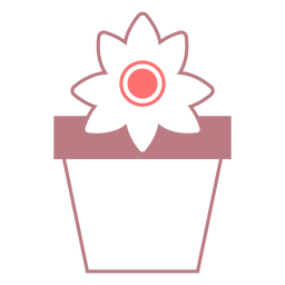 Flower pot line style icon