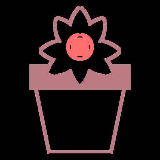 Flower pot line style icon Transparent PNG
