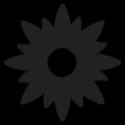 Flor, estrela, dado forma, ícone