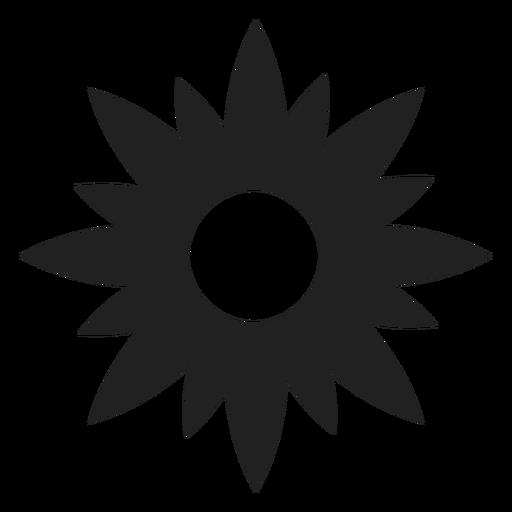 Icono de estrella en forma de flor Transparent PNG