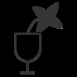 Flor em um ícone de vidro