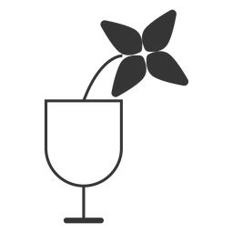 Flower in a glass icon