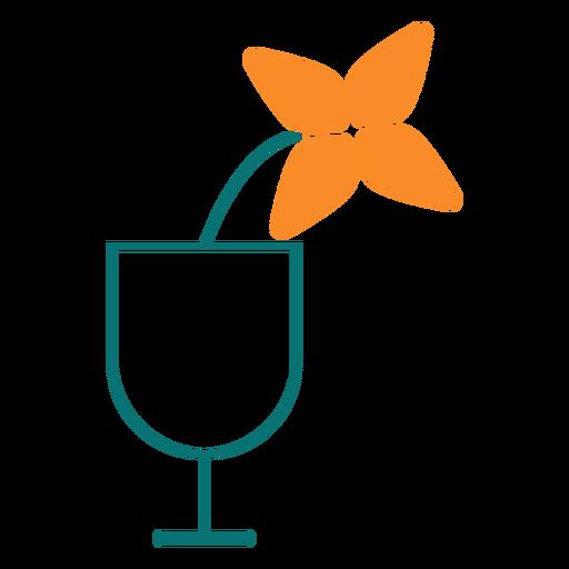 Blume in einer Glaslinie Stilikone Transparent PNG
