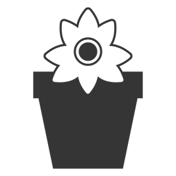 Flower in a pot vector icon