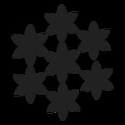 Icono de conjunto de flores