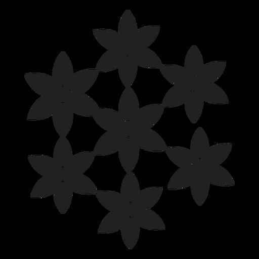 Flower set icon Transparent PNG