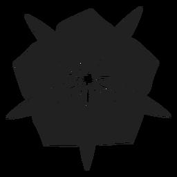 Blume mit breitem Blumenblattvektor
