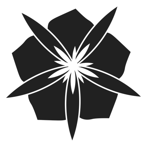 Flower with wide petals vector Transparent PNG